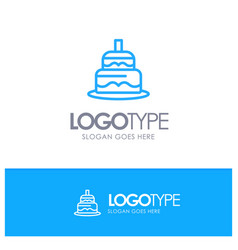 Indian cake day country blue outline logo place vector