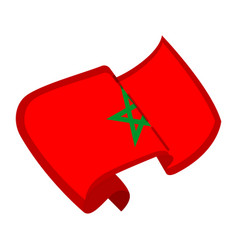 Isolated flag of morocco vector