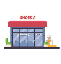 isolated with shoes store vector image