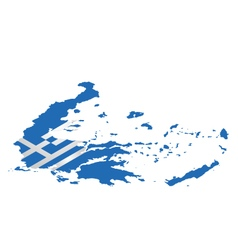 Isometric Greece Flag vector image