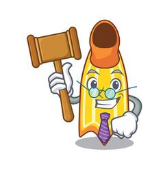 Judge swim fin mascot cartoon vector