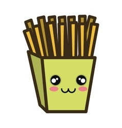 kawaii cartoon french fries vector image