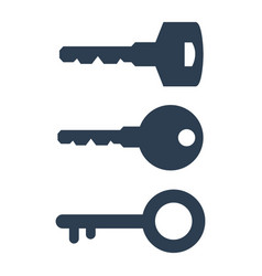 key icons on white background vector image