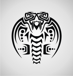King cobra tribal vector