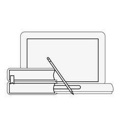 laptop with blank screen icon image vector image