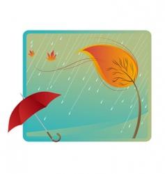 Leaf and umbrella vector