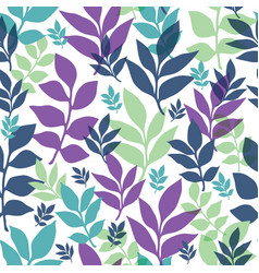 Leaves repeat pattern perfect vector
