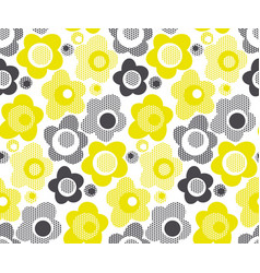 lime color simple floral seamless pattern vector image