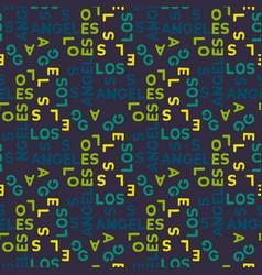 Los angeles seamless pattern vector