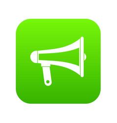 loudspeaker icon digital green vector image