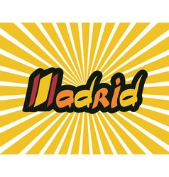 Madrid hand lettering text vector image