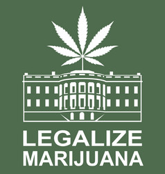 marijuana leaf on white house vector image