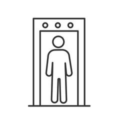 Metal detector portal linear icon vector