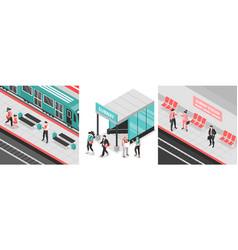 Metro subway design concept vector