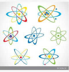 molecules atoms symbol science icon vector image