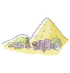 Mountain edge City vector