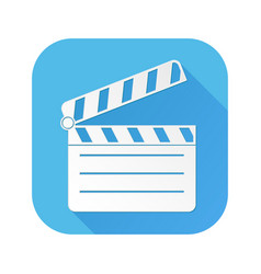 movie filming white sign on blue square icon vector image