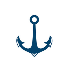 nautical anchor isolated white background vector image