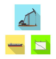 Oil and gas sign vector