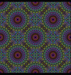 Oriental bohemian mandala flower ornament pattern vector