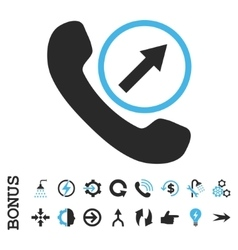 Outgoing Call Flat Icon With Bonus vector image
