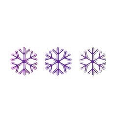 Oval strips geometric snowflake icon trendy vector