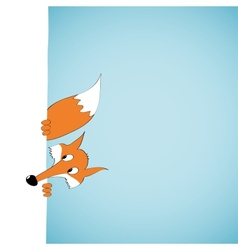 Peeping cartoon fox vector image