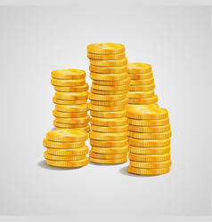 pile of-coins is tacked vector image