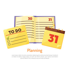Planning list copybook poster vector