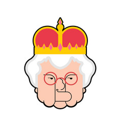 queen isolated boss old lady in crown vector image