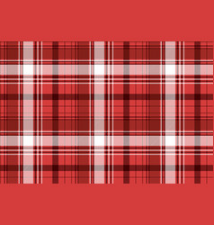 Red tartan fabric texture vector
