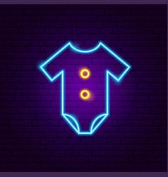 romper suit neon sign vector image