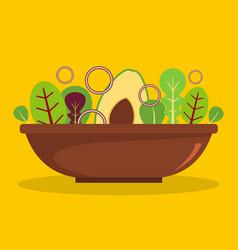Salad icon flat style vector