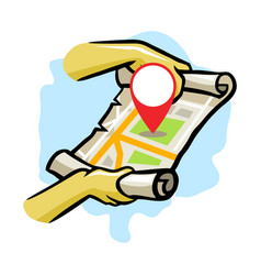 Searching location using modern map vector