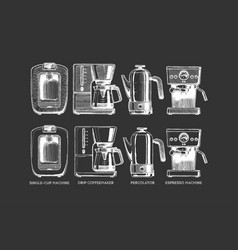set coffee machines vector image