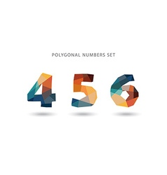 Set of polygonal numbers vector image