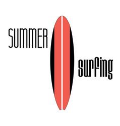 Sign surfboard vector