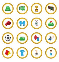 soccer cartoon icon circle vector image