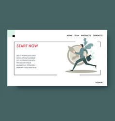 start now time management and productivity vector image