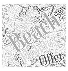 Take a Beach Holiday Word Cloud Concept vector