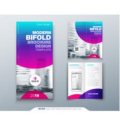 tri fold brochure design cool business template vector image
