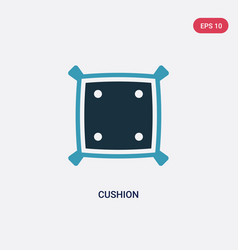 Two color cushion icon from tools and utensils vector