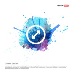 Two side arrow - watercolor background vector