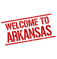 welcome to arkansas stamp vector image