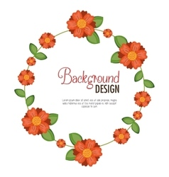 Wreath floral decorative background vector