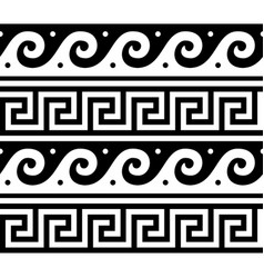 ancient greek seamless pattern - tradional vector image