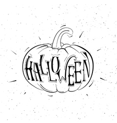 black and white pumpkins for Halloween vector image