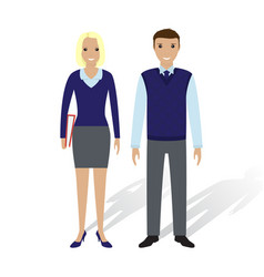Business people man and woman office employees vector