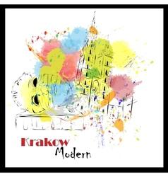 European cities sketch Krakow vector image