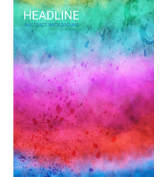 grunge watercolor background vector image